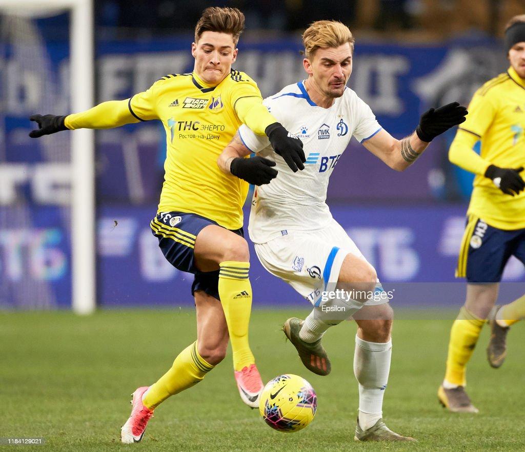 FC Dynamo Moscow vs FC Rostov Rostov-on-Don - Russian Premier League : News Photo