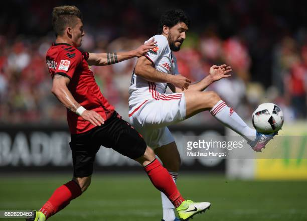 Maximilian Philipp of Freiburg and Almog Cohen of Ingolsatdt compete for the ball during the Bundesliga match between SC Freiburg and FC Ingolstadt...