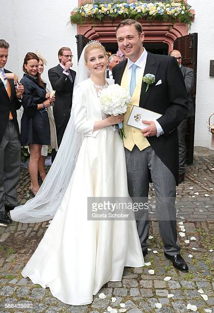 Maximilian Prinz zu Sayn WittgensteinBerleburg and his wife Franziska Balzer after the wedding of Prince Maximilian zu SaynWittgensteinBerleburg and...