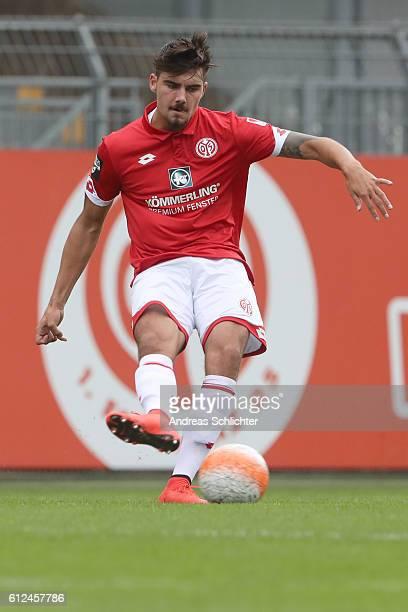 Maximilian Rossmann of FSV Mainz 05 II during the Third League match between 1FSV Mainz 05 II and RW Erfurt at Bruchweg Stadium on October 2 2016 in...