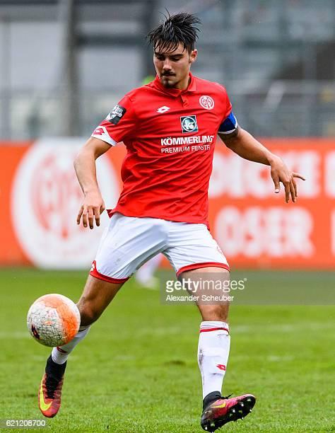 Maximilian Rossmann of Mainz 05 is seen during the Third League match between 1 FSV Mainz 05 II and SG Sonnenhof Grossaspach at Bruchweg Stadium on...