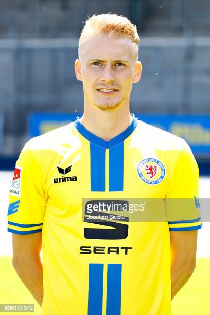 Maximilian Sauer of Eintracht Braunschweig poses during the official team presentation of Eintracht Braunschweig at Eintracht Stadion on July 3 2017...
