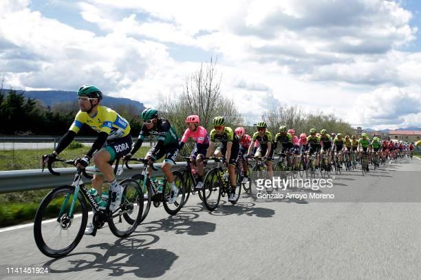 Maximilian Schachmann of Germany and Team Bora Hansgrohe Yellow Leader Jersey / Patrick Konrad of Austria and Team Bora Hansgrohe / Nicholas Schultz...