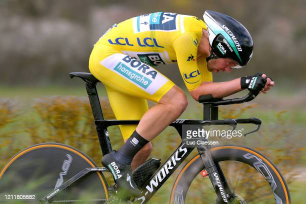 Maximilian Schachmann of Germany and Team Bora Hansgrohe Yellow Leader Jersey / during the 78th Paris Nice 2020 Stage 4 a 151km Individual Time Trial...