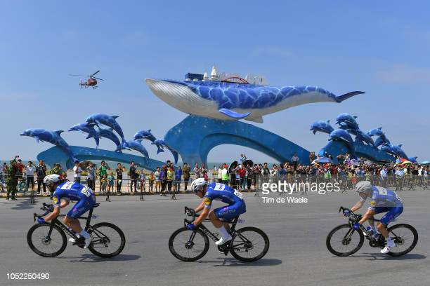 Maximilian Schachmann of Germany and Team Quick-Step Floors / Fabio Jakobsen of The Netherlands and Team Quick-Step Floors / Dries Devenyns of...