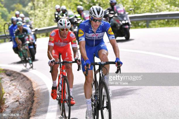 Maximilian Schachmann of Germany and Team Quick-Step Floors / Mattia Cattaneo of Italy and Team Androni Giocattoli-Sidermec / during the 101st Tour...