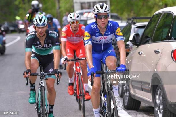 Maximilian Schachmann of Germany and Team Quick-Step Floors / Mattia Cattaneo of Italy and Team Androni Giocattoli-Sidermec / Christoph Pfingsten of...