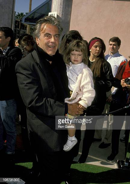 Maximilian Schell and daughter Natasha Schell during Teenage Mutant Ninja Turtles II The Secret of the Ooze Los Angeles Premiere at Cineplex Odeon...