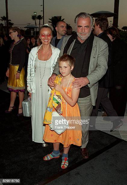 Maximilian Schell with his wife Natasha and their daughter Anastasia