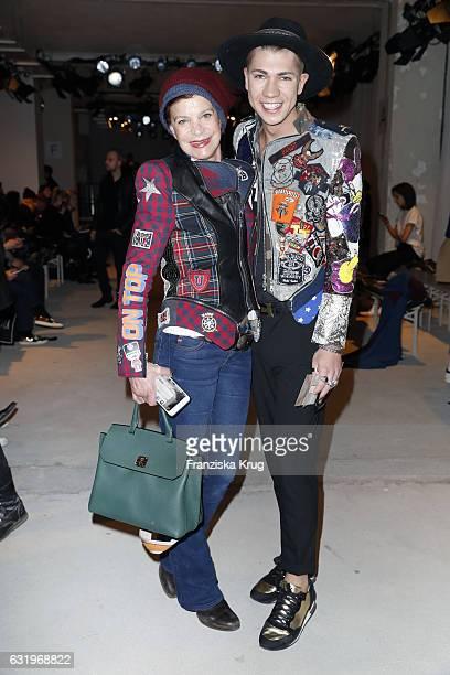 Maximilian Seitz and Barbara Herzsprung attend the Rebekka Ruetz show during the MercedesBenz Fashion Week Berlin A/W 2017 at Kaufhaus Jandorf on...