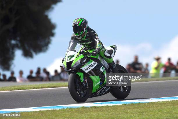 Maximilian Sheib of Chile and ORELAC Racing VERDNATURA heads down a straight during the Superbike race 02 during the 2020 Superbike World...
