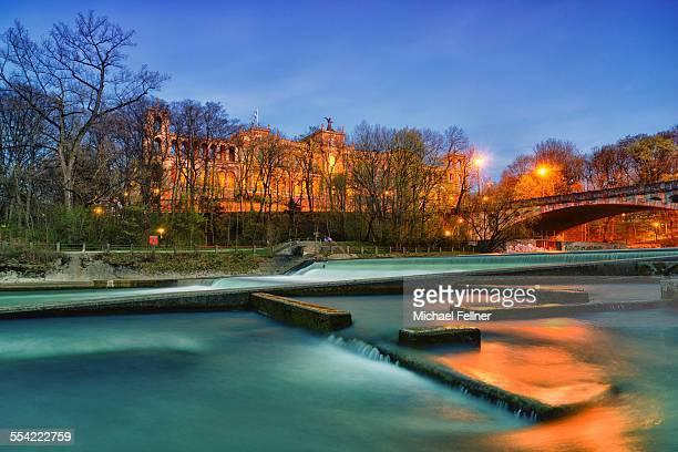 Maximilianeum and river Isar