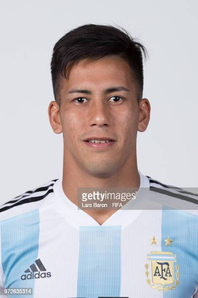 Maximiliano Meza of Argentina poses for a portrait during the official FIFA World Cup 2018 portrait session on June 12 2018 in Moscow Russia