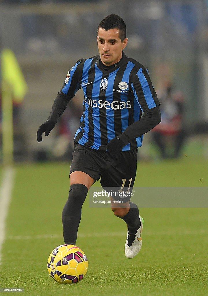 Maximiliano Moralez of Atalanta BC in action during the Serie A match between SS Lazio and Atalanta BC at Stadio Olimpico on December 13, 2014 in Rome, Italy.