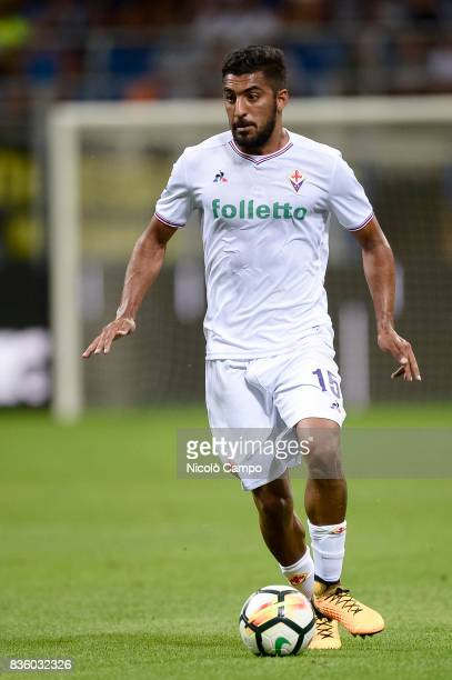 Maximiliano Olivera of ACF Fiorentina in action during the Serie A football match between FC Internazionale and ACF Fiorentina FC Internazionale wins...