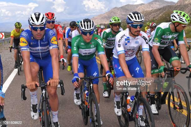 Maximiliano Richeze of Argentina and Deceuninck QuickStep Team / Remco Evenepoel of Belgium and Deceuninck QuickStep Team Green Best Young Rider...