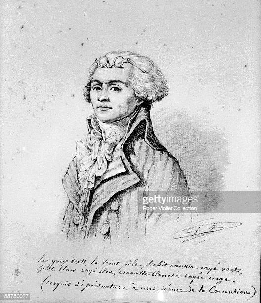 Maximilien de Robespierre French politician Sketch made from life during a session of the Convention