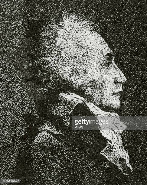 Maximilien Robespierre French lawyer and politician Figure of the French Revolution Member of Jacobin Club Engraving Portrait
