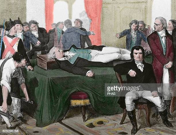 Maximilien Robespierre French lawyer and politician Figure of the French Revolution Member of Jacobin Club Executed by guillotine 1794 Corpse...