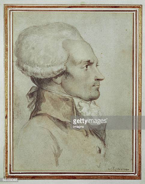 Maximilien Robespierre Pencil drawing by Moreau Le Jeune Musee Lambinet Versailles France [Maximilien Robespierre Pencil drawing by Moreau Le Jeune...