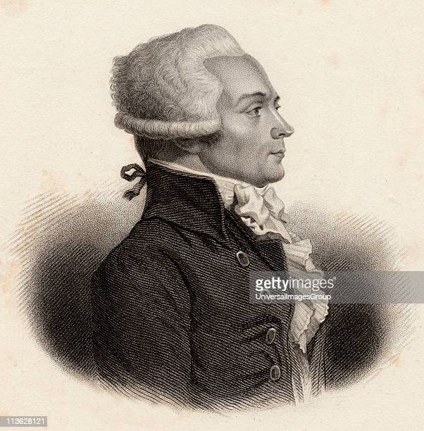 Maximilien Robespierre17581794 Jacobin leader during French Revolution 19th century print engraved by Freeman