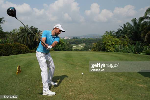 Maximillan Kieffer of Germany plays on the 5th hole during Day Four of the Maybank Championship at Saujana Golf and Country Club on March 24 2019 in...