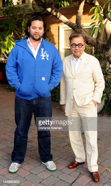 Maximillian Chow and Michael Chow attend MOCA Screening and Performance of As It Lays by Alex Israel at Henson Studios on May 19 2012 in Los Angeles...