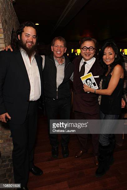 Maximillian Chow Kenny Griswold Michael Chow and Mimi Griswold attends Chefdance presented by Sotheby's and GYPSY05 on January 24 2011 in Park City...
