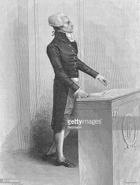 MaximlienFrancoisMarieIsidore de Robespierre French Revolutionist Undated engraving