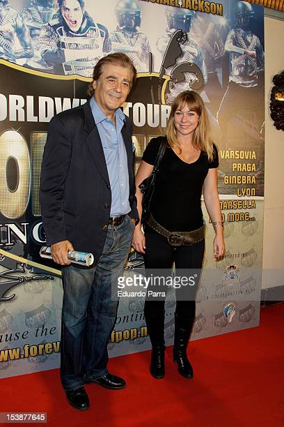 Maximo Valverde and friend attend 'Forever King of pop' photocall premiere at Nuevo Apolo theatre on October 10 2012 in Madrid Spain