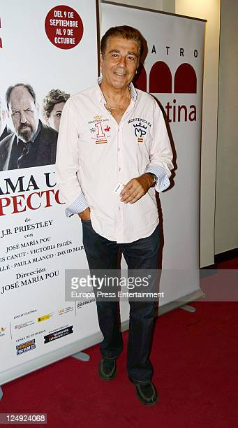 Maximo Valverde attends 'Llama a un Inspector' Premiere on September 13 2011 in Madrid Spain