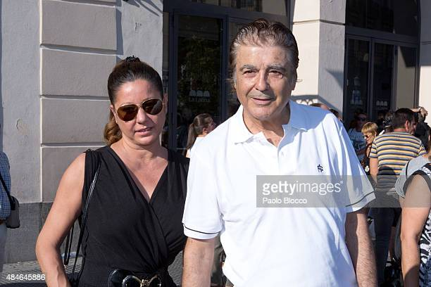 Maximo Valverde attends the funeral chapel for Lina Morgan at 'La Latina' theatre on August 20 2015 in Madrid Spain