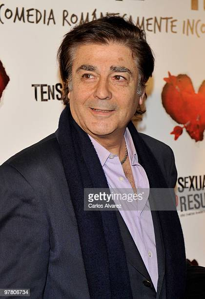 Maximo Valverde attends the premiere of ''Tension Sexual No Resuelta'' at the Capitol cinema on March 17 2010 in Madrid Spain