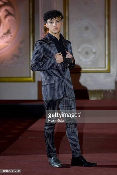 Maximo walks the runway for the NYFW hiTechMODA Spotlight on the New Era of Fashion - FIGOS Shoe Designer With Fashion Designer Ricardo Oyarzun:...