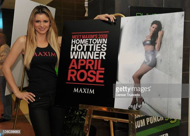 Maxim's 2008 Hometown Hottie April Rose attends Rhumbar at The Mirage Hotel and Casino on December 29 2010 in Las Vegas Nevada
