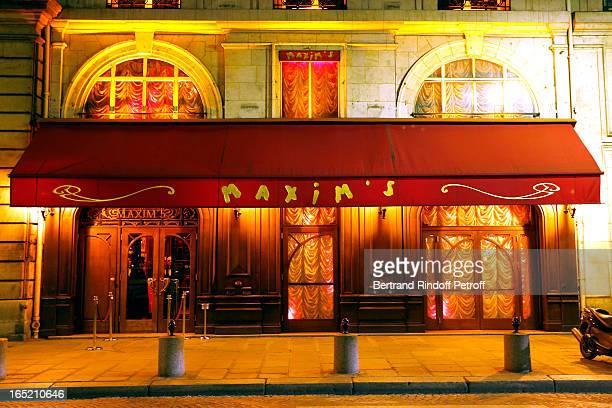 Maxim's Restaurant view at 'Des gens qui s'embrassent' premiere after party at Maxim's Restaurant on April 1 2013 in Paris France