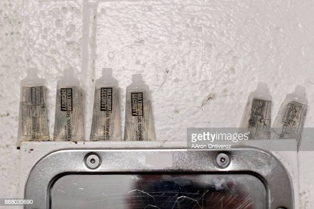 Maximum Security brand toothpaste in a cell at the Pueblo County Detention Center on Wednesday December 6 2017 The jail which is currently well...