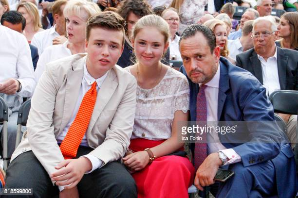 Maximus von SchoenburgGlauchau Carlotta Hipp and Alexander von SchoenburgGlauchau during the Zucchero concert at the Thurn Taxis Castle Festival 2017...