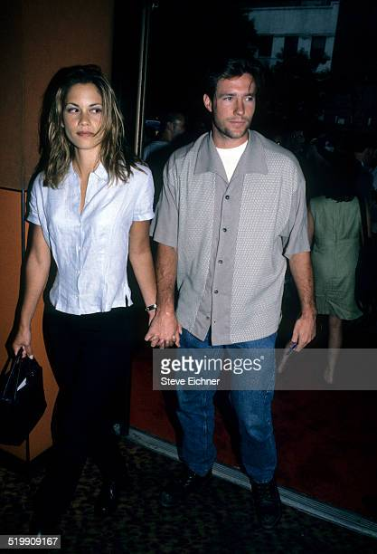 Maxine Bahns and Edward Burns at event New York July 1 1996