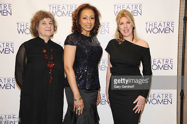 Maxine Kern Tamara Tunie and Lorca Peress attend League Of Professional Theatre Women awards at The Pershing Square Signature Center on March 10 2014...