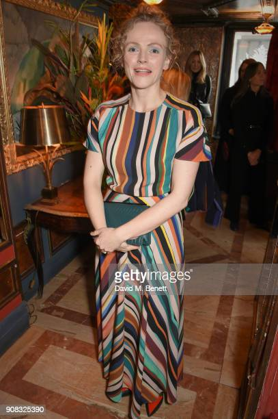 Maxine Peake wearing Paul Smith attends the Paul Smith Malgosia Bela AW18 Lunch on January 21 2018 in Paris France