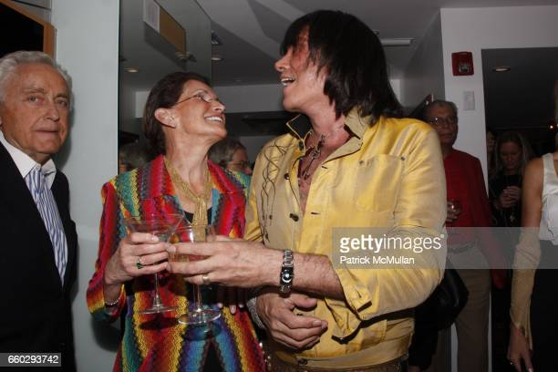 Maxine Ress and Rodolfo Valentin attend RODOLFO VALENTIN'S Salon Spa Preview Party at 694 Madison Avenue on June 15 2009 in New York City