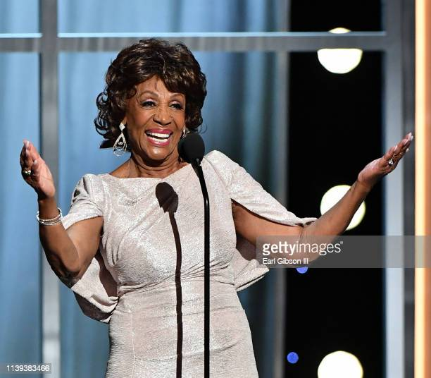 Maxine Waters accepts the Chairman's Award onstage at the 50th NAACP Image Awards at Dolby Theatre on March 30, 2019 in Hollywood, California.