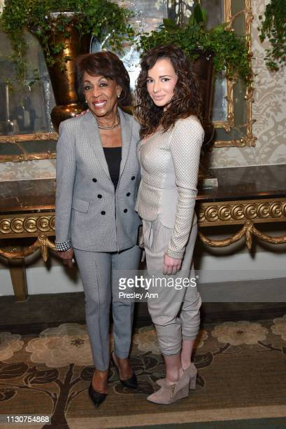 Maxine Waters and Ashley Rickards attend Raising Our Voices Supporting More Women in Hollywood Politics at Four Seasons Hotel Los Angeles in Beverly...