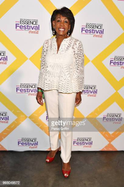 Maxine Waters attends the 2018 Essence Festival presented by CocaCola at Ernest N Morial Convention Center on July 6 2018 in New Orleans Louisiana