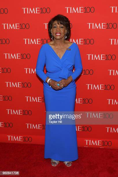Maxine Waters attends the 2018 Time 100 Gala at Frederick P Rose Hall Jazz at Lincoln Center on April 24 2018 in New York City