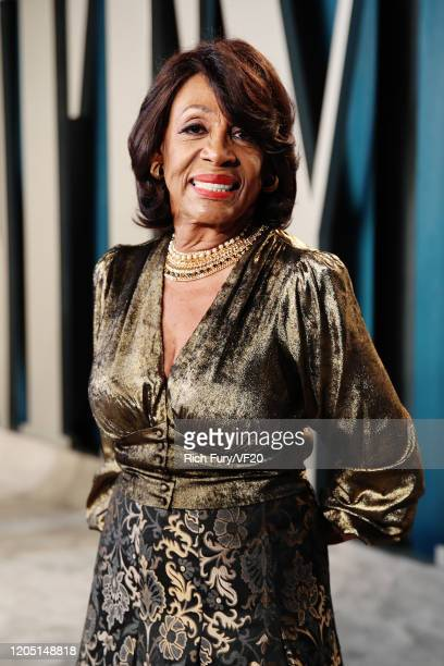Maxine Waters attends the 2020 Vanity Fair Oscar Party hosted by Radhika Jones at Wallis Annenberg Center for the Performing Arts on February 09,...