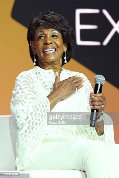 Maxine Waters speaks onstage during the 2018 Essence Festival presented by CocaCola at Ernest N Morial Convention Center on July 6 2018 in New...