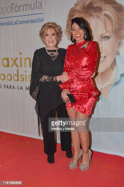 Maxine Woodside and Paola Durante poses for photos during 'Todo para la mujer' 30° Anniversary Red Carpet at Live Aqua Hotel October 16 2019 in...