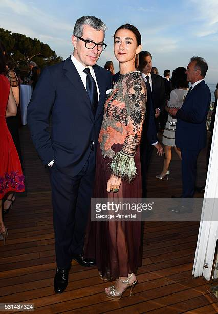 MaxMara's Giorgio Guidotti and Marie Louise Scio attend Vanity Fair and HBO Dinner Celebrating the Cannes Film Festival at Hotel du CapEdenRoc on May...